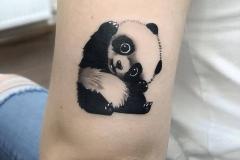 benay yılmaz, panda kalıcı dövme çalışması